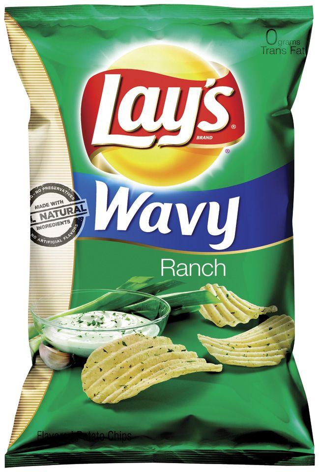 Frito Lay Wavy Ranch Potato Chips 10 Oz