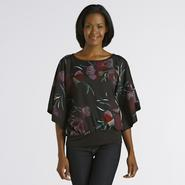 Jaclyn Smith Women's Batwing Top - Floral at Kmart.com