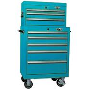 Viper Tool Storage Teal 26-Inch 8 Drawer 18G Heavy-Duty Ball Bearing 2 Piece Tool Storage- Each item Sold Separately at Sears.com