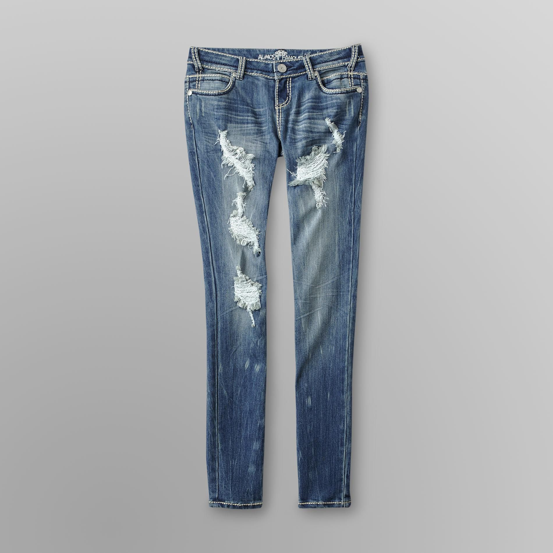 Almost Famous Junior's Skinny Destructed Jeans at Sears.com