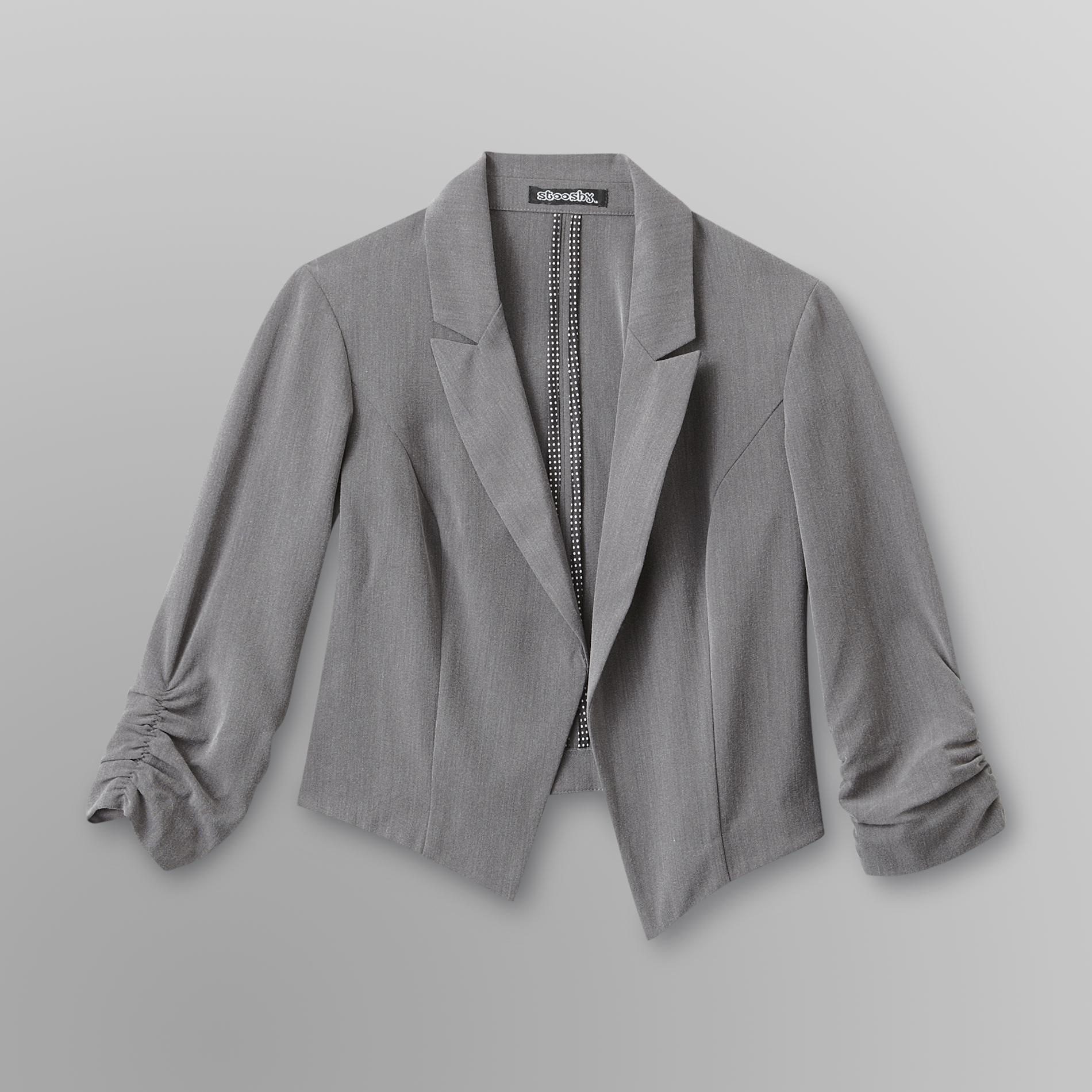 Stooshy Junior's Ruched Crop Blazer at Sears.com