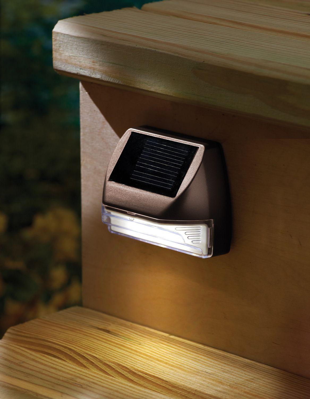 Coleman Cable Solar Deck Light, Bronze, 1 piece