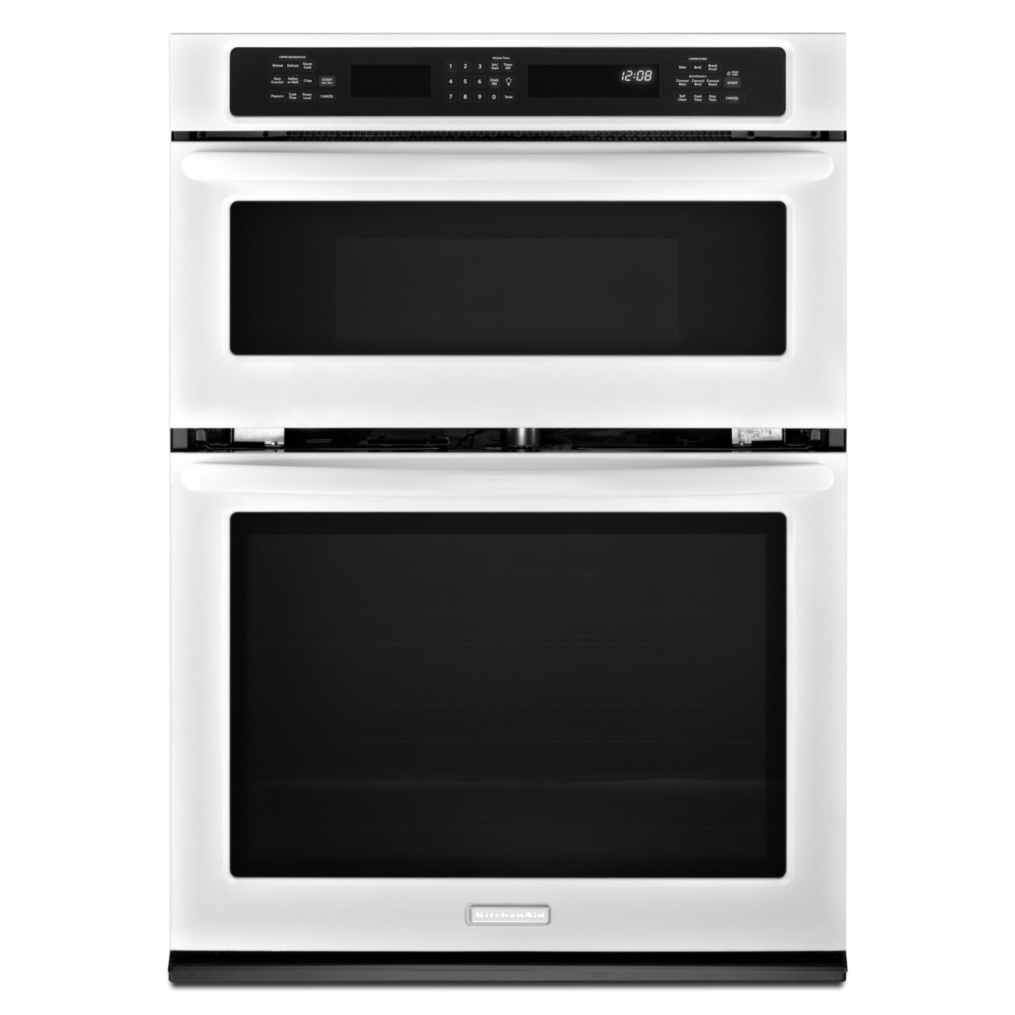 KitchenAid 27 Built-In Combination Wall Oven w/ Even-Heat™ True Convection Lower Oven - White