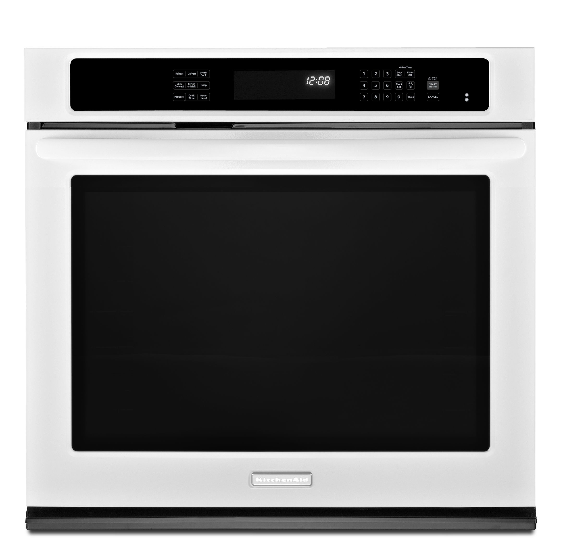 KitchenAid KEBS109BWH 30 Built-in Single Wall Oven with Even-Heat Technology - White