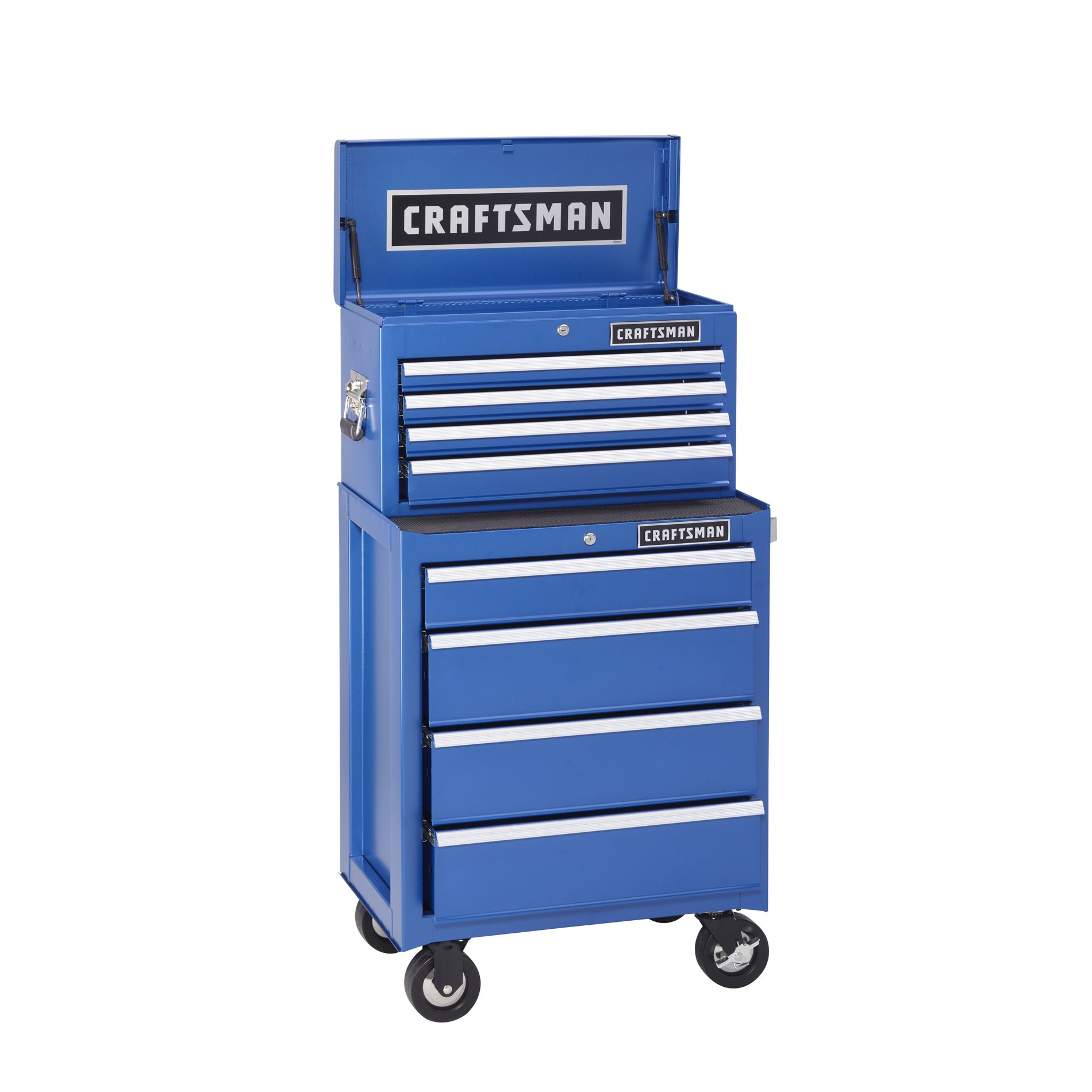 -8-Drawer Ball-Bearing Combo - Chrome Blue