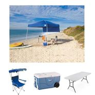 L'Oreal Canopy, 6ft Folding Table, Canopy Chairs & 62 Quart Wheeled Cooler Tailgate Bundle at Sears.com