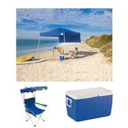 Canopy, Canopy Chairs & 48 Quart Cooler Outdoor Gathe...