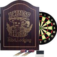 TGT King's Head Value Dartboard Cabinet Set - Dark Wood at Sears.com
