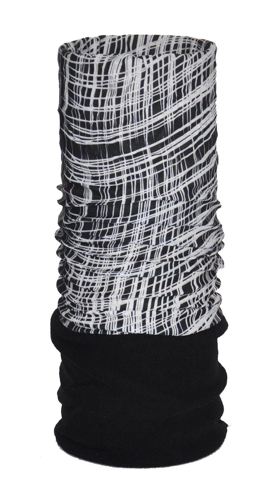 O3 USA Kids Fleece Rag Tops Convertible Headwear - Wavy Mesh Black
