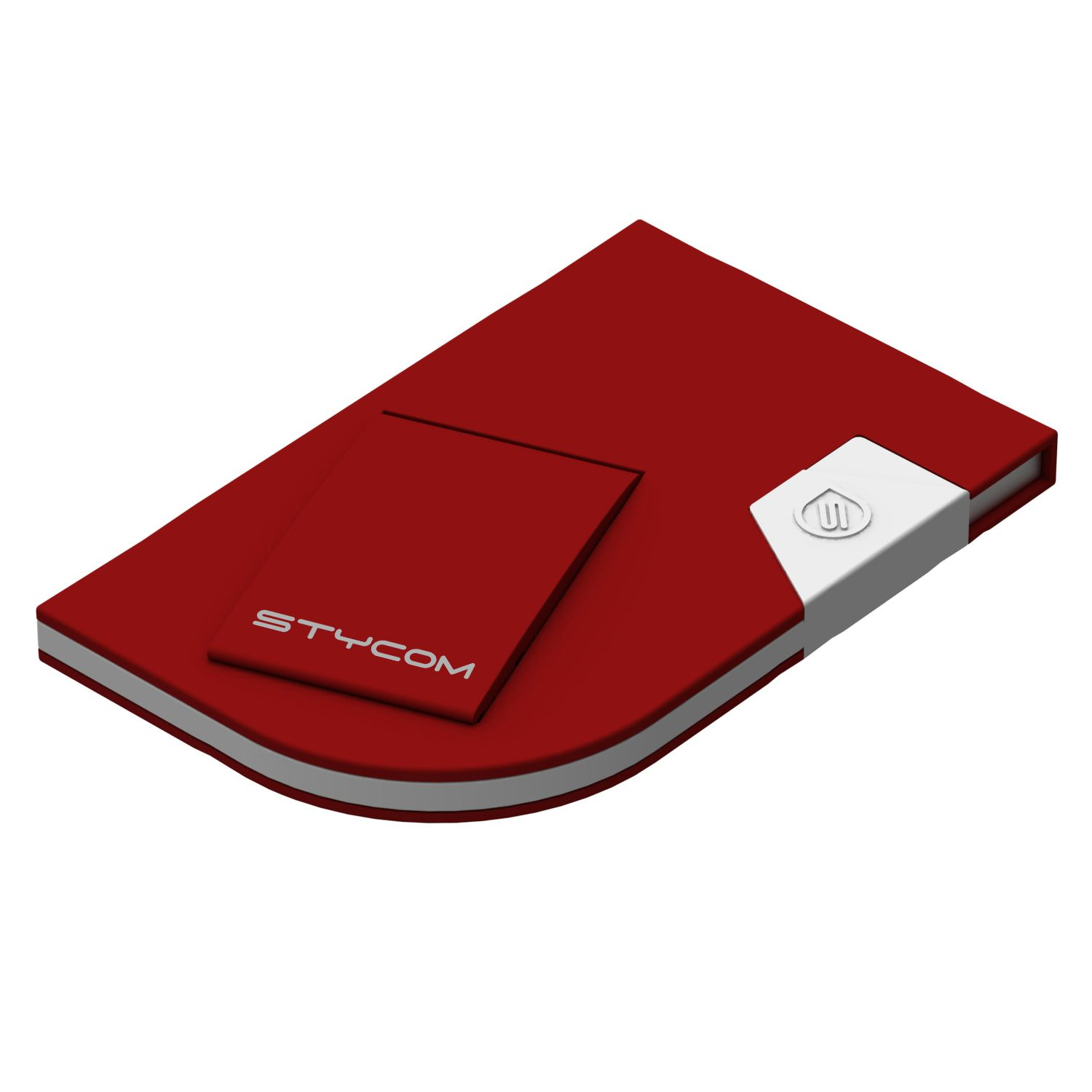 DockCard ultra slim travel docking station for iPod touch, iPhone 3/3GS and iPhone 4/4S - Red
