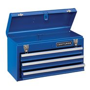 Craftsman 3-Drawer Metal Portable Chest-Chrome Blue at Craftsman.com
