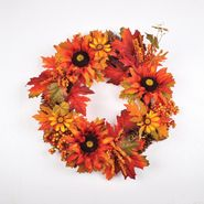 Be Thankful 22in Harvest Wreath with Sunflowers and Leaves at Kmart.com