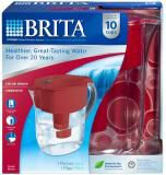 Grand Water Filtration Pitcher, 10 Cups Red