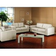 Baxton Whitney Ivory Leather Modern Sofa Set at Kmart.com