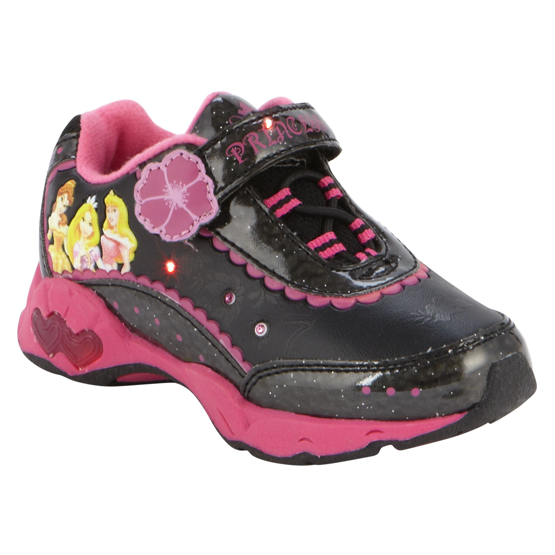 Toddler Girl's Princess Athletic Shoe - Black