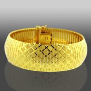 Romanza Gold Over Bronze Crosshatch Soft Bangle at Sears.com