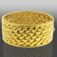 Romanza Gold Over Bronze Basket Weave Bangle at Kmart.com