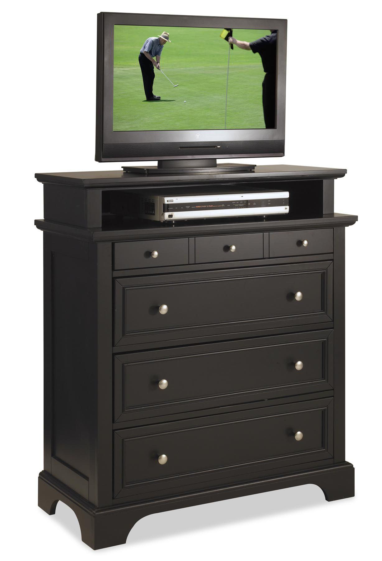 Bedford TV Media Chest Black Finish
