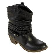 Bongo Women's Addy Short Western Boot with Braid - Black at Kmart.com