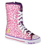 Skechers Girl's Twinkle Toes Shuffles Notorious Hi Top Fashion Sneaker- Pink at Sears.com
