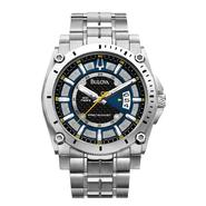 Bulova Men's Precisionist Collection Stainless Steel Bracelet Blue Dial at Sears.com
