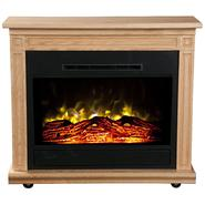 Heat Surge Roll-n-Glow Electric Fireplace - Light Oak at Kmart.com