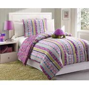 Furry Friends Turtle Stripe 3 Piece Twin Comforter Set at Kmart.com