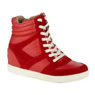 Joe Boxer Women's ZG12096-01 Eden Casual High Top - Red Suede at Kmart.com
