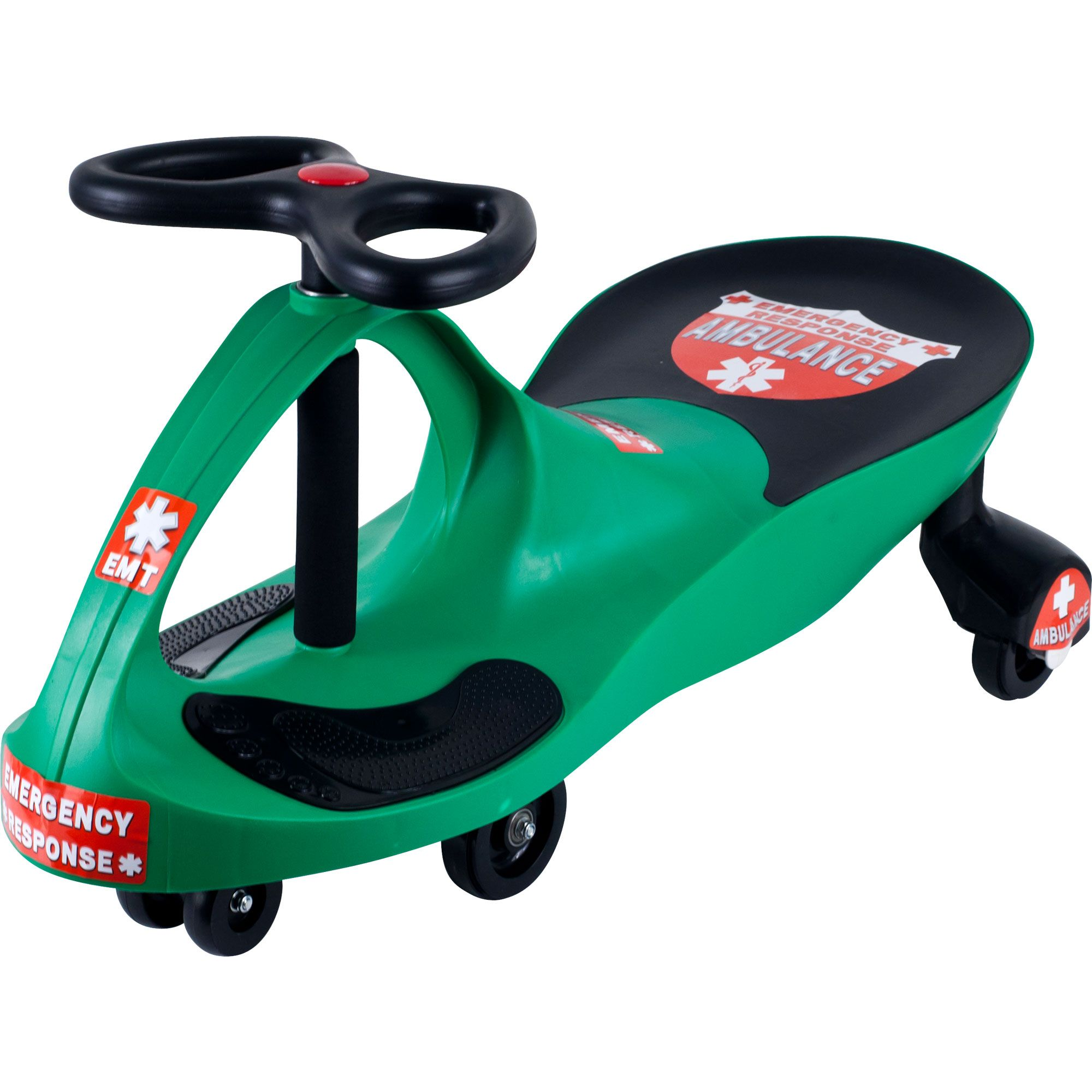 Green Responder Ambulance Wiggle Ride-on Car