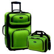 U.S. Traveler – RIO 2-Piece Expandable Carry-On Luggage Set in Green at Sears.com