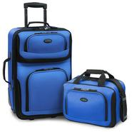 U.S. Traveler – RIO 2-Piece Expandable Carry-On Luggage Set in Blue at Sears.com