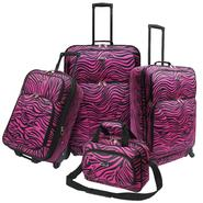 U.S. Traveler Fashion 4 piece Spinner Luggage Set, Pink Zebra Print at Kmart.com