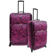 U.S. Traveler Fashion 2-piece Spinner Luggage Set, Pink Zebra Print at Kmart.com