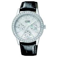 Citizen Ladies' Quartz Stainless Steel Day-Date Strap with Mother of Pearl Dial and Swarovski Crystal Bezel at Sears.com
