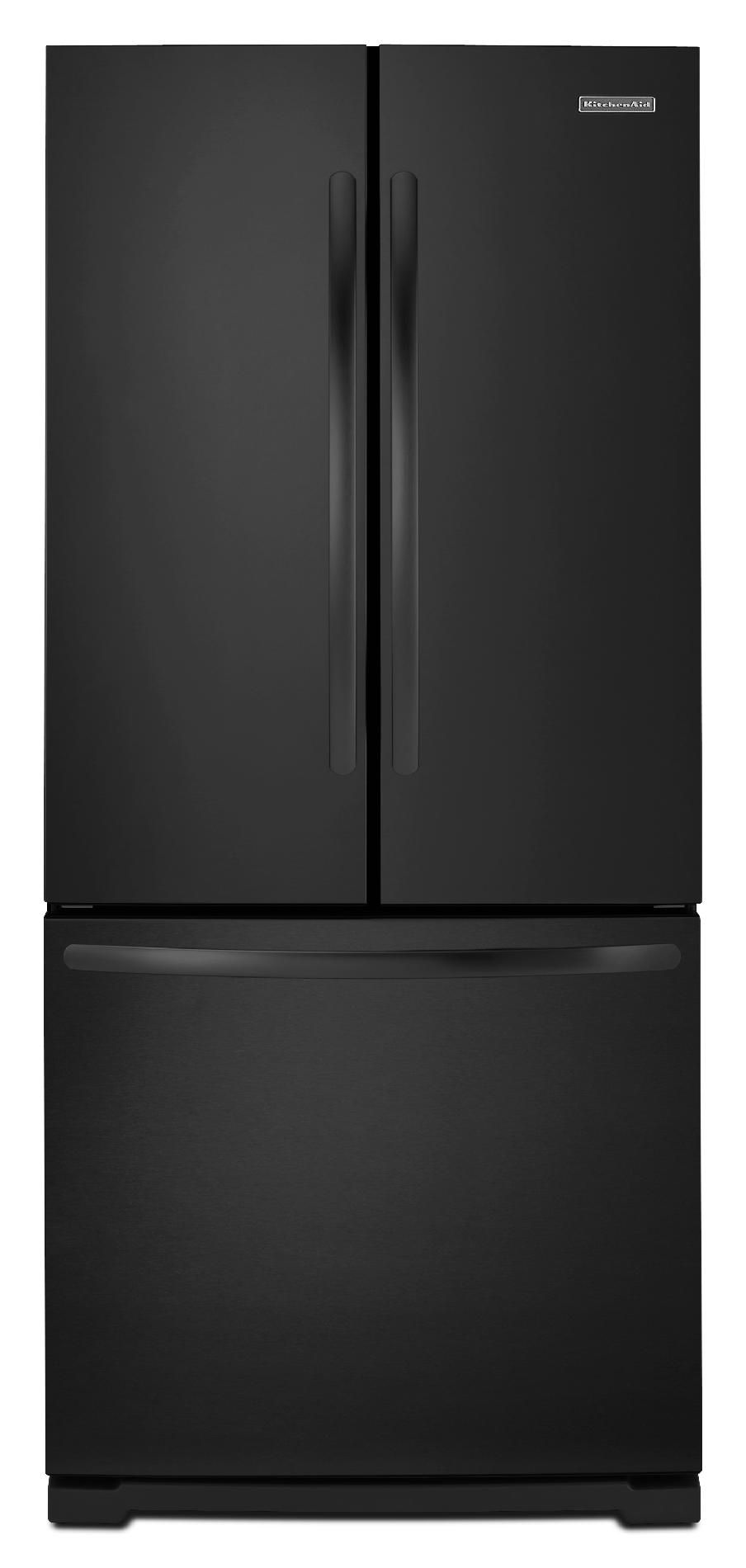 KitchenAid KFFS20EYBL 20 cu. ft. French Door with Internal Dispenser - Black