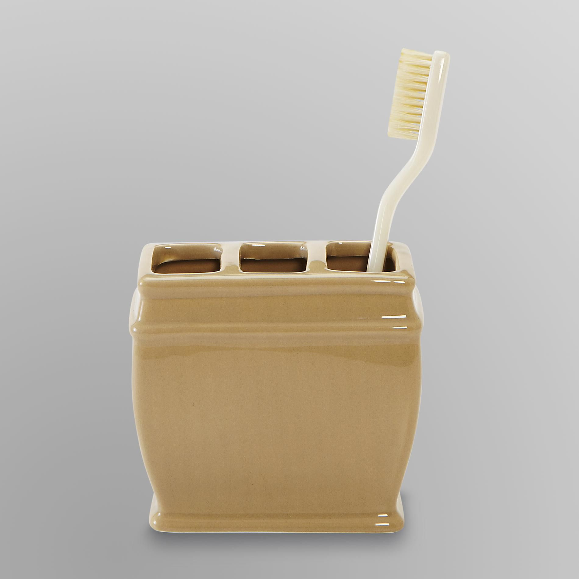 Cannon Toothbrush Holder Tan