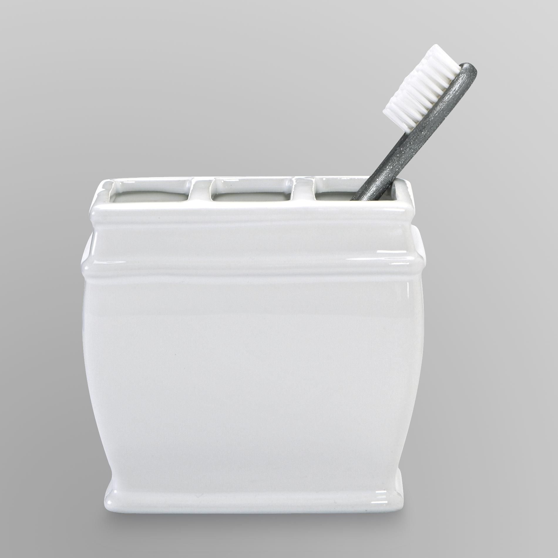 Cannon Toothbrush Holder White