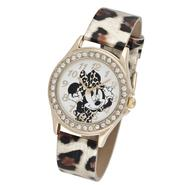 Disney Ladies Minnie Mouse Watch with Leopard Strap at Kmart.com