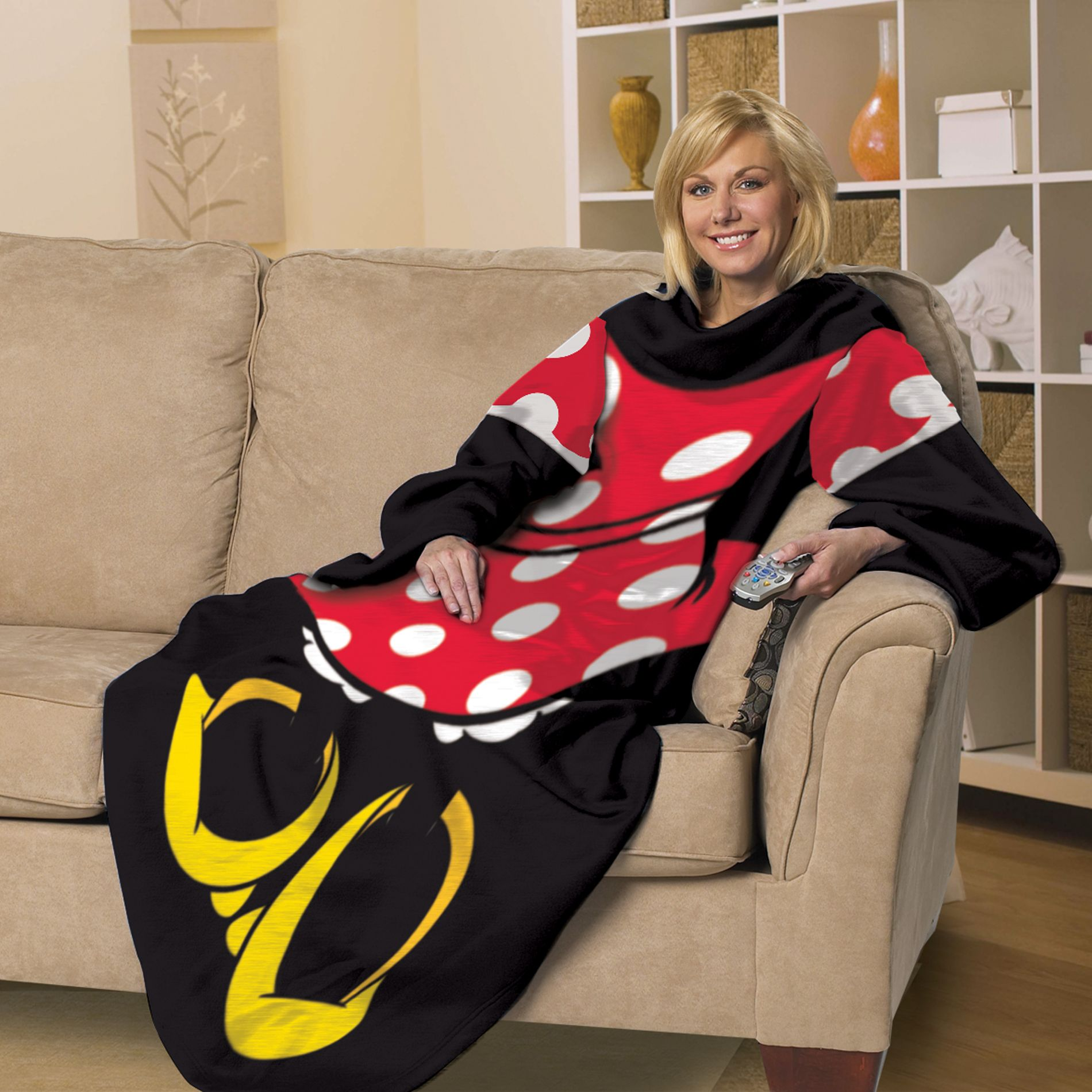 Licensed Adult comfy throws - Minnie Mouse