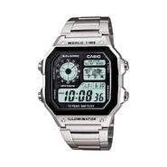 Casio Men's Digital Silver-Tone Band with Black Dial Watch at Sears.com