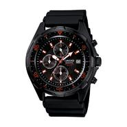 Casio Men's Black Band with Black and Red Accent Dial Watch at Kmart.com