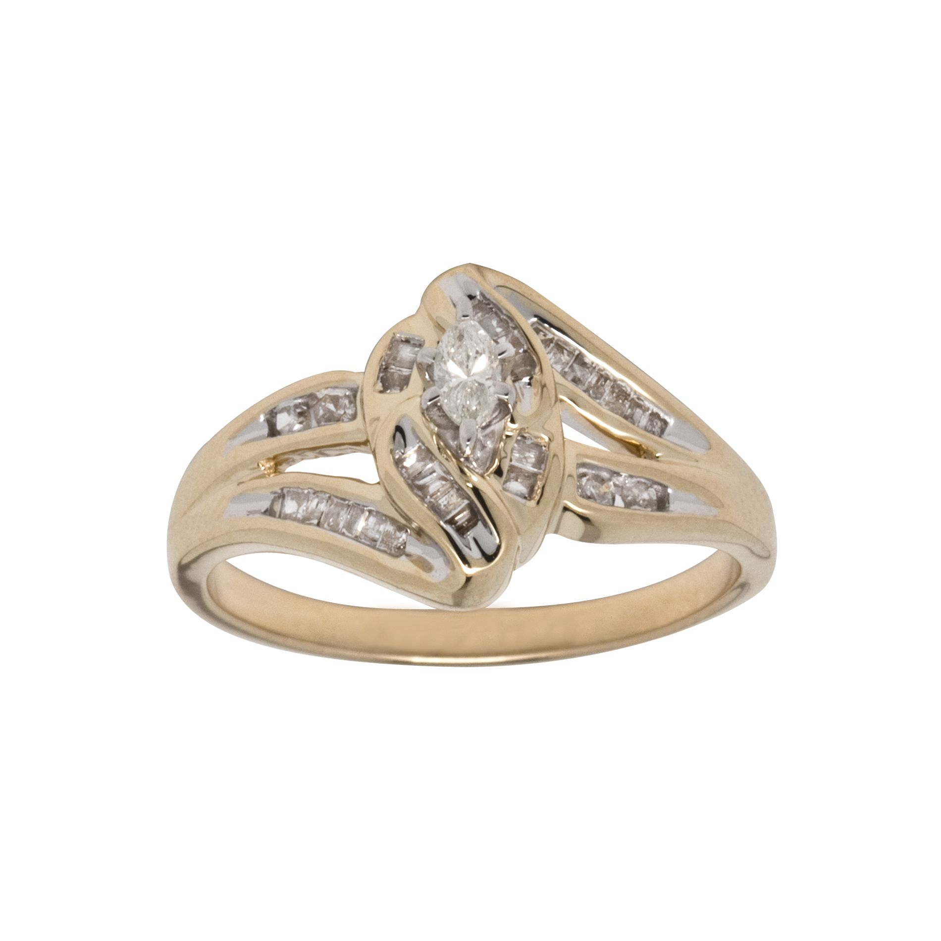 3/8 cttw Diamond 10Kt Yellow Gold