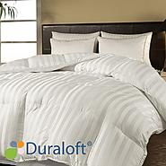 Premium 500 TC Damask Stripe Down Alternative Comforter with DuraLoft at Kmart.com