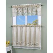 Simply Window Brighton Cutwork Kitchen Curtain Valance at Kmart.com