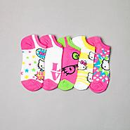 Hello Kitty Girl's Socks 5-pack No-show at Sears.com