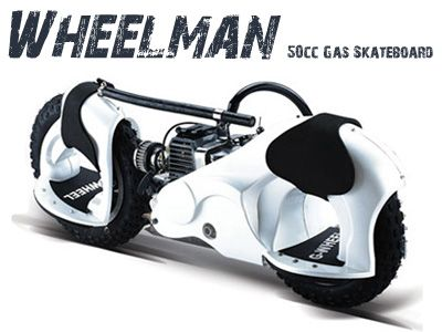 Wheelman  50cc Skateboard White