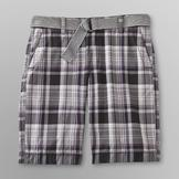 Route 66 Young Men's Belted Plaid Shorts at mygofer.com