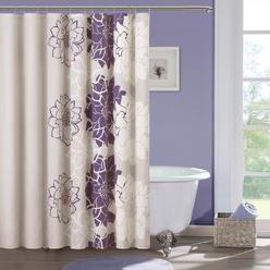 Madison Classics Bridgette 72' Purple Shower Curtain at Kmart.com
