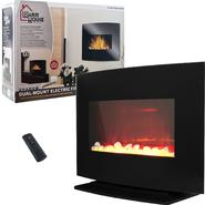 Warm House Black Curved Glass Electric Fireplace Heater at Kmart.com