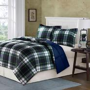Folsom Plaid Comforter Mini Set in Navy at Kmart.com